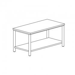 Table centrale avec étagère...