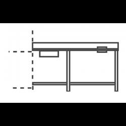 Table d'entrée avec bac