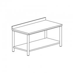 Table adossée avec étagère...